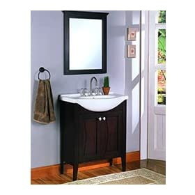 "Tuxedo Bath Vanity with Mirror Combo - Fairmont Designs Bathroom Vanity 104-V30: 29 3/8"" W x 19"" D x 36"" H"