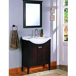Vintage Tuxedo Bath Vanity with Mirror Combo Fairmont Designs Bathroom Vanity V W