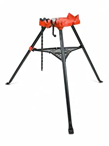 "STEEL DRAGON TOOLS SDT 460 6"" Stand Portable Tripod Chain Vise fits RIDGID® 72037 36273"