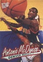 Antonio McDyess Denver Nuggets 1996 Fleer Ultra Autographed Hand Signed Trading Card... by Hall+of+Fame+Memorabilia