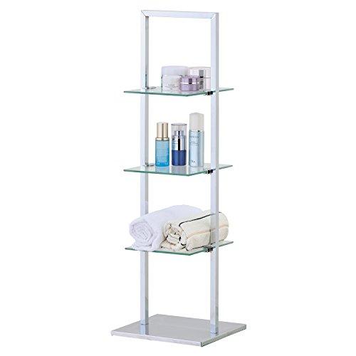 Organizador De Baño Cromado: estanteria para baño con 3 estantes acero cromado 275×215×825 cm