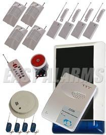Burglar alarm system that calls you without using a landline phone line, GSM based system, NOW with added fire alert