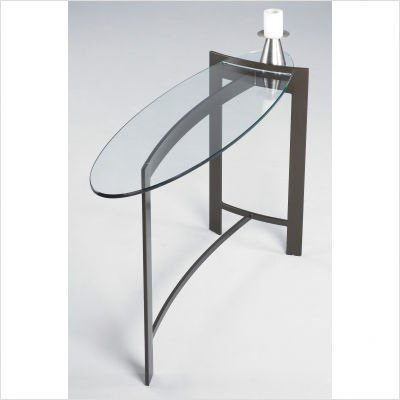 Mirage Contemporary Console Table Metal Finish: Gunmetal