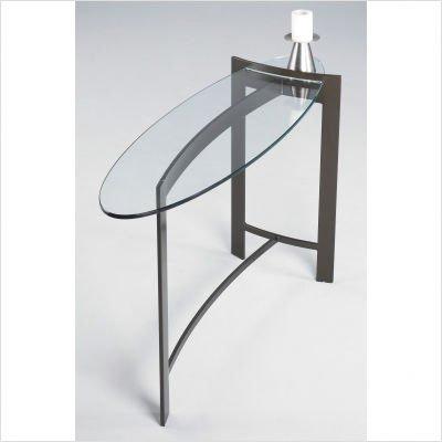 Mirage Contemporary Console Table Metal Finish: Gunmetal
