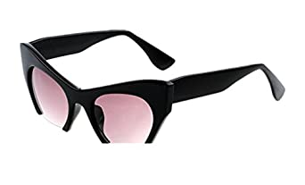 Women's points Semi-Rimless UV400 Cat Eye Sunglasses