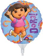 9 Inch Hola Dora EZ Air Fill Balloons - 3 Count