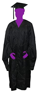 Master's Gown Package (Cap, Gown, and Tassel) (Black)