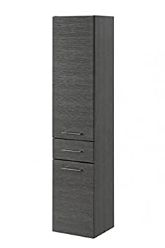 Alto armadio 'gajus' bagno armadietto pensile da bagno grafite lucida