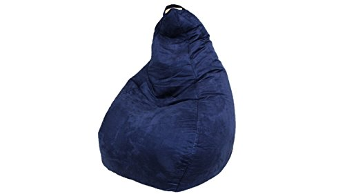 Brentwood Suede Bean Bag, Navy