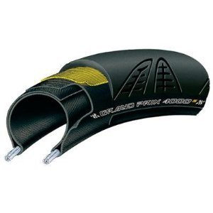 Continental Grand Prix 4000S Clincher Road Bicycle Tire (Black w/Black Chili - 700 x 23)