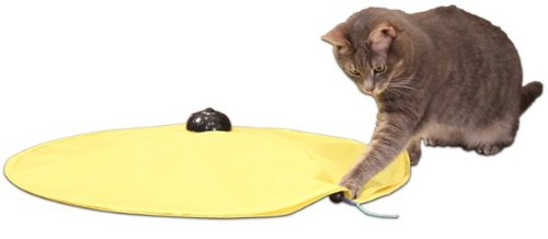 Cats Meow Yellow Undercover Fabric Moving Mouse