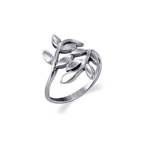 Gem Avenue 925 Sterling Silver Polished Finish Ivy Leaf Design Ring (Silver Leaf Ring compare prices)