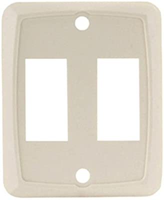 JR Products 12901-5 Ivory Double Face Plate - Pack of 5