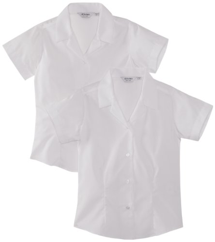 Trutex Limited Girl's, Pack of 2,  Easy Care Plain Blouse, White, 14 Years (Manufacturer Size: 36