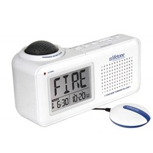 Lifetone Hl Bedside Fire Alarm & Clock