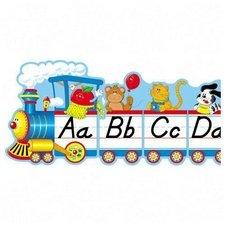 Bulletin Board,Alphabet Train,9 Pcs.,Grades PK-5,12-1/2