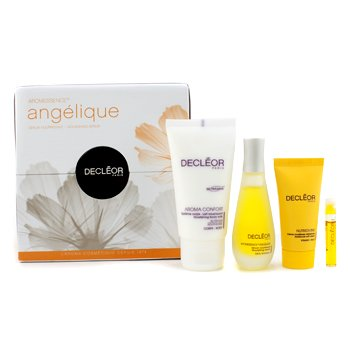Aromessence Angelique: Aroma Confort + Nourishing Serum + Nutriboost Soft Cream + Tan Activator Serum + Box 4pcs+1box