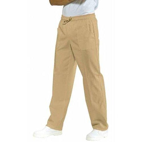 ATELIER DEL RICAMO - Pantaloni Uomo Con Elastico Isacco, Colore: Coloniale, Taglia: L