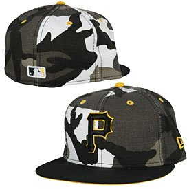 Pittsburgh Pirates Urban Camo 5950 Fitted Cap by The Pittsburgh Fan