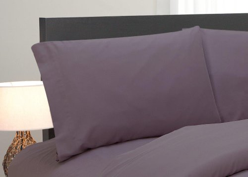 Natural Comfort Easy Care 4-Piece Microfiber Sheet Set, Full, Lilac front-963484
