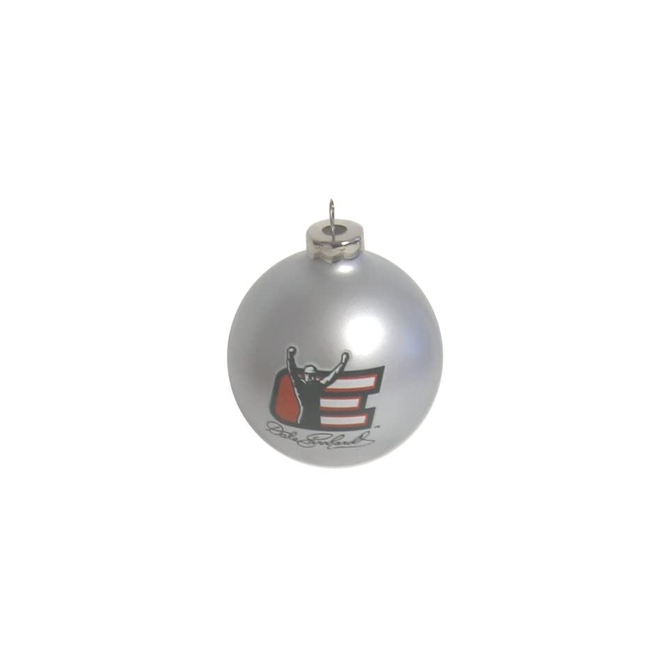 Nascar Dale Earnhardt Legacy White Round Christmas Tree Ornament