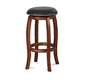 ACME 07199 Swivel Bar Stool, 29-Inch Height, Oak by ACME