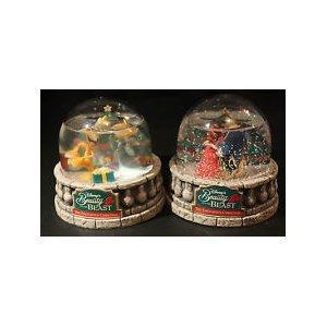 Rare Limited Beauty and the Beast The Enchanted Christmas Snow Globe 1997 Release Disney/Ocean Spray by Ocean Spray