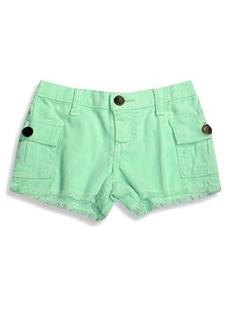 Ave.Blu - Toddler Girls Corduroy Shorts, Mint Green 4393-4