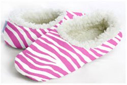 Cheap Medium Snoozies Hot Zebra Slipper / Footie (B005RS9TZM)