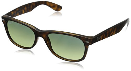 ray ban clubmaster green lens  Ray-Ban NEW WAYFARER - MATTE HAVANA Frame BLUE/GREEN POLAR Lenses ...