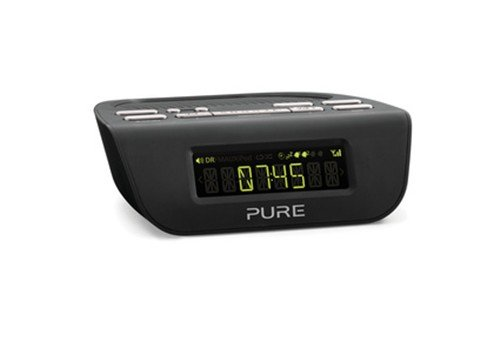 pure siesta mi series 2 digital radio alarm clock dab fm black b007z2rhbq amazon price. Black Bedroom Furniture Sets. Home Design Ideas