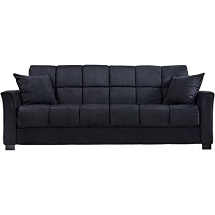 Baja Convert-a-Couch and Sofa Bed, Black