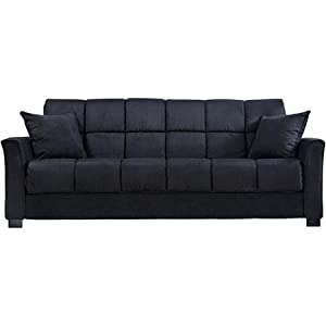 Amazoncom baja convert a couch and sofa bed black for Baja convert a couch and sofa bed reviews