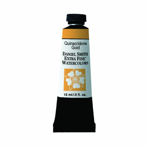 Daniel Smith Extra Fine Watercolor 15ml Paint Tube, Quinacridone, Gold