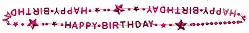 "Party Favors - 6 Metallic ""HAPPY BIRTHDAY"" Bead Necklace"