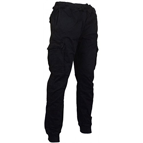 Franklin & Marshall guyle Active Stretch Nero Combat Pantaloni Black W38 Regular