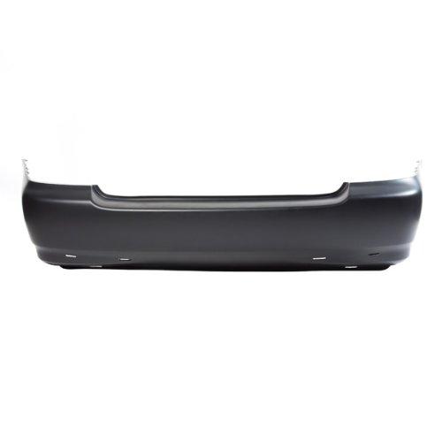 CarPartsDepot, Rear Primered Bumper Cover New Replacement Plastic w/Spoiler Holes, 352-44310-20-PM TO1100209 5215902912 (2007 Toyota Corolla Rear Bumper compare prices)