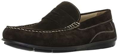 (降价)ECCO爱步男士真皮咖啡色休闲鞋Men's Classic Moccasin $101.93