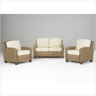 Buy Low Price Home Styles Cabana Banana 2 Chairs and Loveseat in Honey (5401-300 / 5401-90 / 5401-20 / 5401-22)