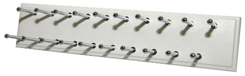 Easy Track Ra1200 Tie And Scarf Rack, White, 20 Hooks front-20903