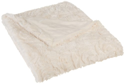 Northpoint Cashmere Rose Faux Fur Throw, Ivory front-892687
