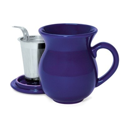 Chantal 15-Ounce Mugs with Stainless Steel Infuser