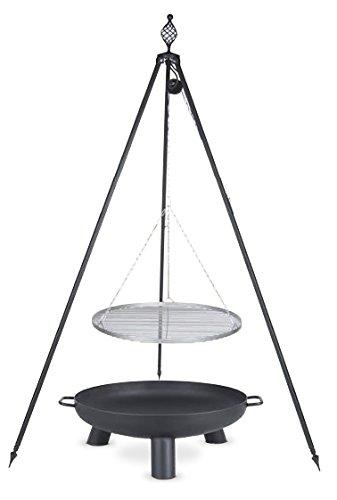 Schwenkgrill mit Dreibein Royal, Rost 70 cm aus Edelstahl, Feuerschale #37 80 cm günstig