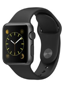 Apple Digital Black Dial Unisex Watch-Apple-42mm-space-Black