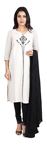 Vastra Vinod Women's Cotton Straight Salwar Suit Set - B071S26R36