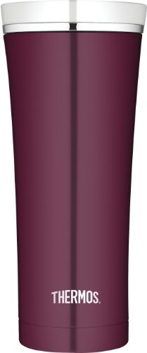 Thermos Stainless Steel Travel Tumbler, 16-Ounce, Burgundy front-850626
