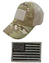 Ultimate Arms Gear� Tactical Military Multi-Cam Camo Camouflage Baseball Team Mesh Hat Cap + USA Flag Patch