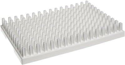 "Bel-Art Scienceware 189110150 Polypropylene Miniature Vial Rack, 150 Places, 12-3/4""Length x 8-3/4"" Width x 1-7/8"" Height from Bel-art"