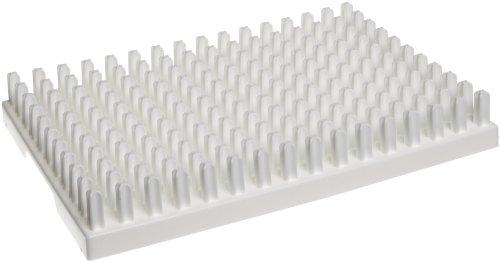 "Bel-Art Scienceware 189110150 Polypropylene Miniature Vial Rack, 150 Places, 12-3/4""Length X 8-3/4"" Width X 1-7/8"" Height"