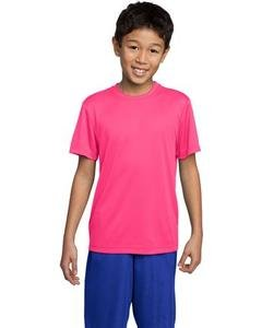 Sport Tek Youth Competitor Tee Shirt-L (Neon Pink) front-554205